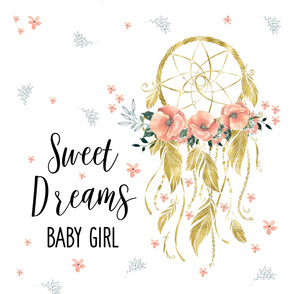 Sweet Dreams Baby Girl Quote Dream Catcher - 24 designs by ...