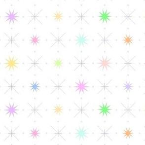 pastel sparkle stars