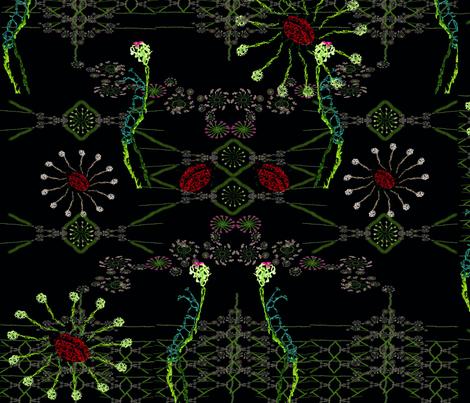 Embroiderd caterpillar ladybird flowers fabric by janetteatkinson@yahoo_co_uk on Spoonflower - custom fabric