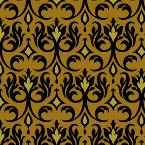 Regency gold and black