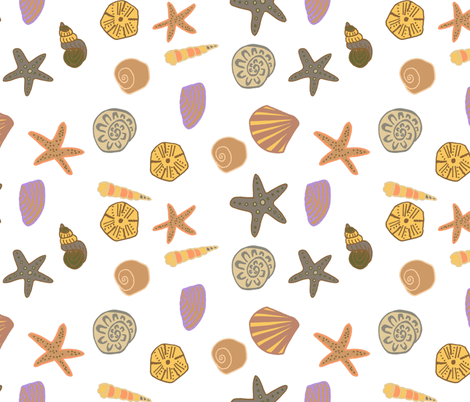 happy shells fabric by claireybean on Spoonflower - custom fabric