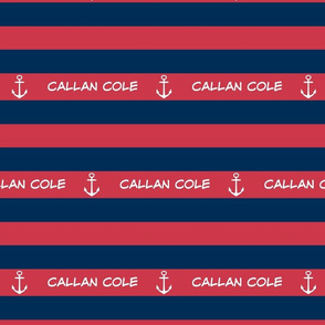 Anchor Stripes 2 - berry navy PERSONALIZED Callan Cole ed