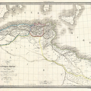 "1842 Map of Barbary Coast (42""W)"
