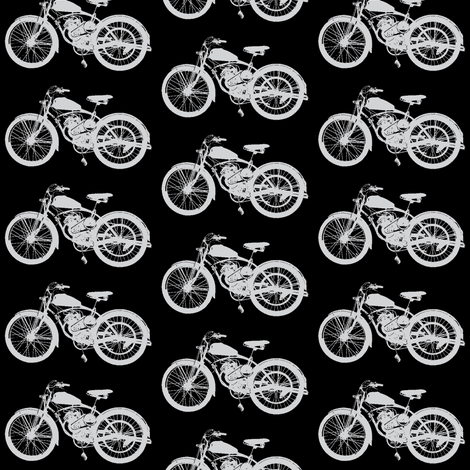Grey Vintage Motorbikes // Medium fabric by thinlinetextiles on Spoonflower - custom fabric