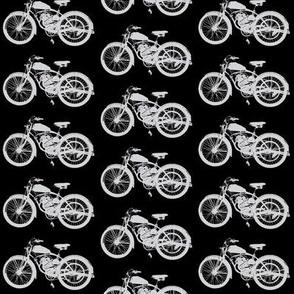Grey Vintage Motorbikes // Medium