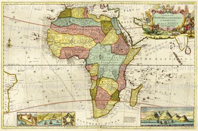 """1710 Map of Africa (54""""W)"""