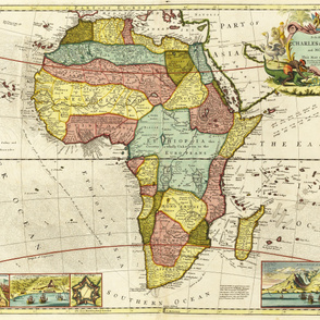 "1710 Map of Africa (54""W)"
