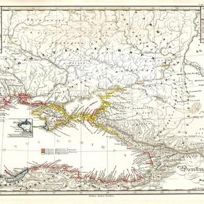 "1855 Black Sea Map (54""W)"
