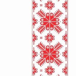 hygge stripe red winter wonderland holiday christmas red stripe folk art