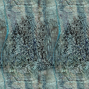 mudcloth abstract aqua