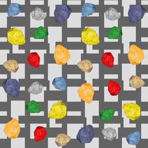 colorful stones with geometric  background