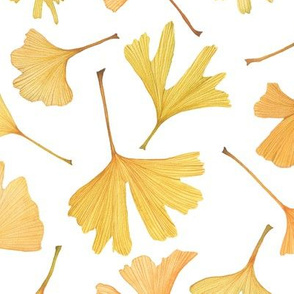 Watercolor Gingko Leaves