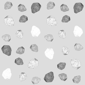 plain gray stones