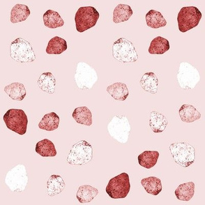 pinkish white stones