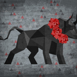 Fragmented Bull and Roses_Yd