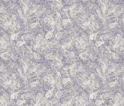 Engraving woodcut-purple tint fabric by wren_leyland on Spoonflower - custom fabric