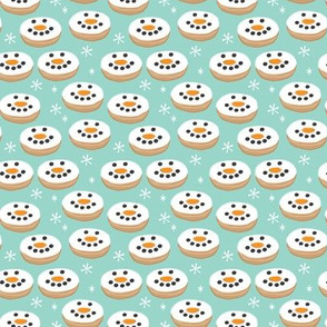 tiny snowman-donuts