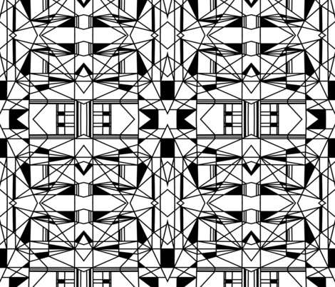 black and white geometric fabric by fern_and_lilac on Spoonflower - custom fabric