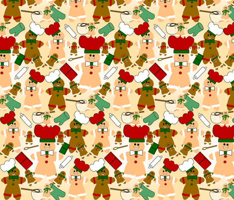 Gingerbread Design fabric by lworiginals on Spoonflower - custom fabric