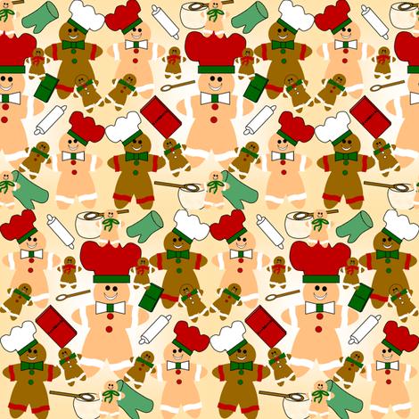 Gingerbread Design fabric by lworiginals on Spoonflower - custom fabric