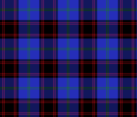 "Home / Hume tartan, 6"" fabric by weavingmajor on Spoonflower - custom fabric"