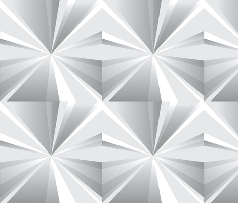 Grayscale Light Fragments fabric by objects_in_patterns on Spoonflower - custom fabric