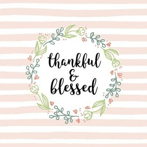 Thankful and Blessed Floral Wreath