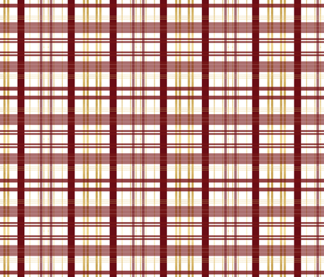 garnet and gold plaid maroon red and yellow plaid fabric by jenlats on Spoonflower - custom fabric