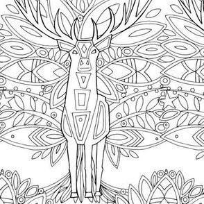 woodland prince bw coloring in