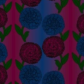 Victorian Dahlia Fabric Design