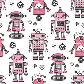 Retro Robots in Pink