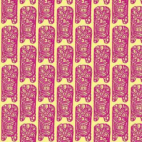 tiki etching hot pink