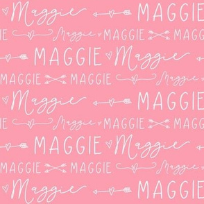 Girls Personalized Name Print // Arrow Doodle Hearts - Maggie