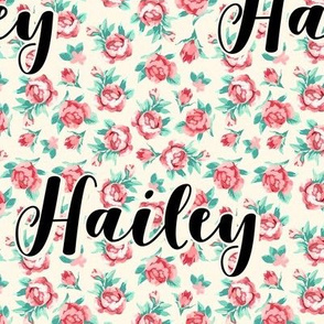 Floral Rose Personalized Name