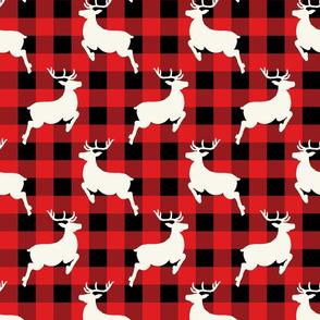 Reindeer Prancing Red