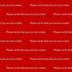 Please Verify You are not a Robot
