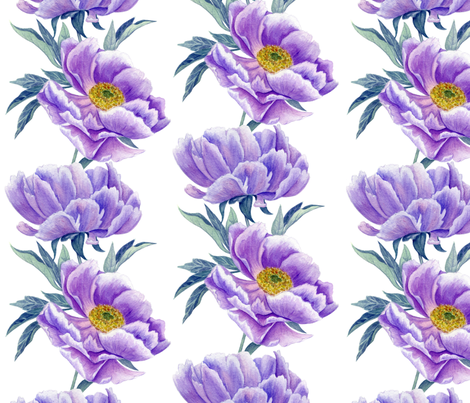 lilac peonies fabric by minyanna on Spoonflower - custom fabric