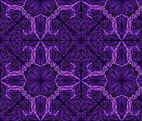 Dark Purple Cat Fragmentation fabric by chappy_and_neko on Spoonflower - custom fabric