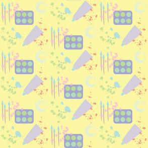 Art Supplies- Yellow 6x6 Half Drop