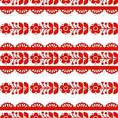 Inna Stripe in strawberry red