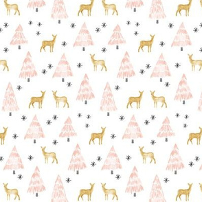 (small scale) holiday deer - blush