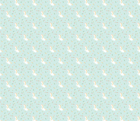 Unicorn Seafoam fabric by aenne on Spoonflower - custom fabric