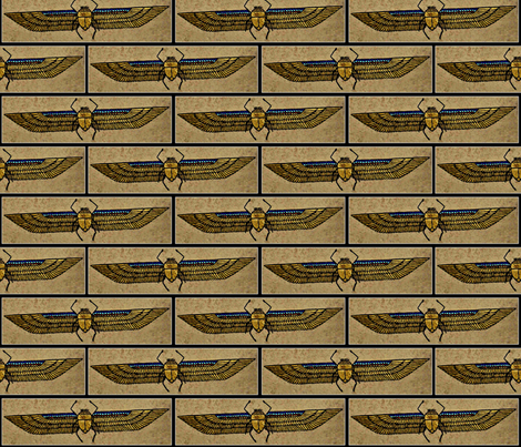 Winged Scarab  fabric by doug_miller on Spoonflower - custom fabric