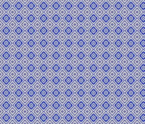 Modern Diamond Pattern in Blue and Silver fabric by vickywestover on Spoonflower - custom fabric