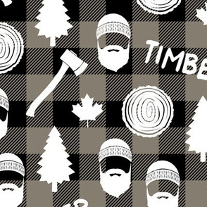 lumberjack - timber - brown plaid