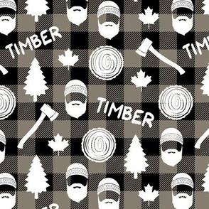 (small scale) lumberjack - timber - brown plaid