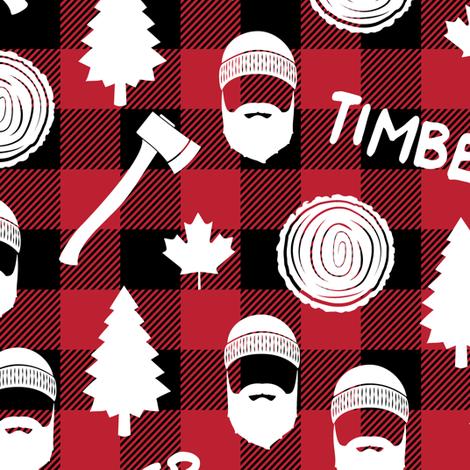 lumberjack - timber - buffalo plaid fabric by littlearrowdesign on Spoonflower - custom fabric