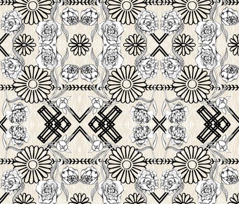 Treillage  fabric by graceful on Spoonflower - custom fabric