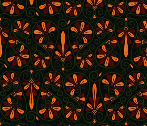 greek nouveau dark fabric by hannafate on Spoonflower - custom fabric