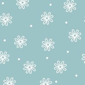 daisy toss sky blue